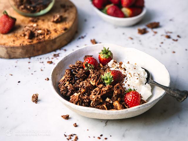 Keto Chocolate Granola Clusters