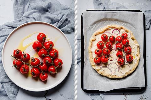 Low-Carb Roasted Tomato Galette