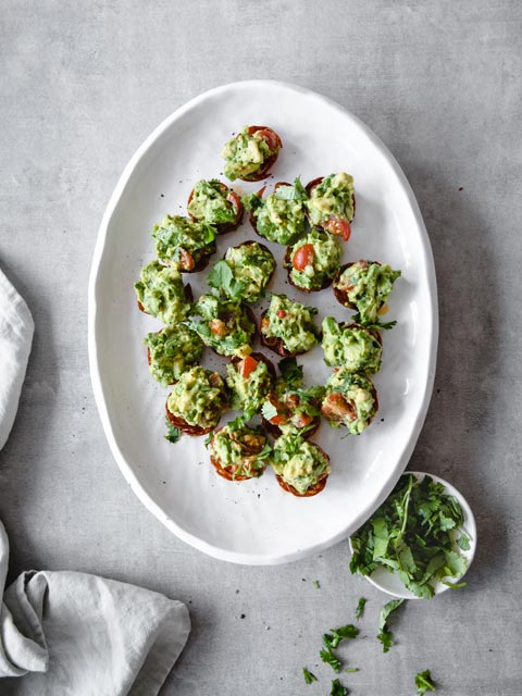 Keto Mini Pepperoni Guacamole Bites