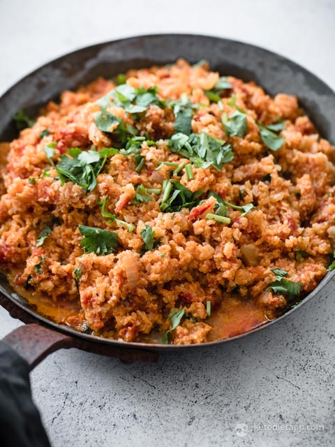 Low-Carb One-Pot Mexican Cauliflower Rice