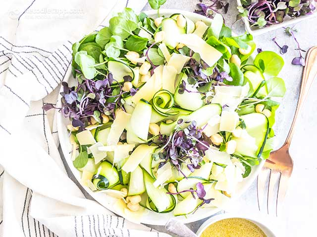 Low-Carb Shaved Zucchini Summer Salad