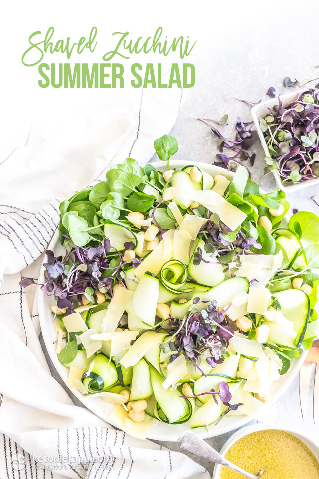 Low Carb Shaved Zucchini Summer Salad Ketodiet Blog