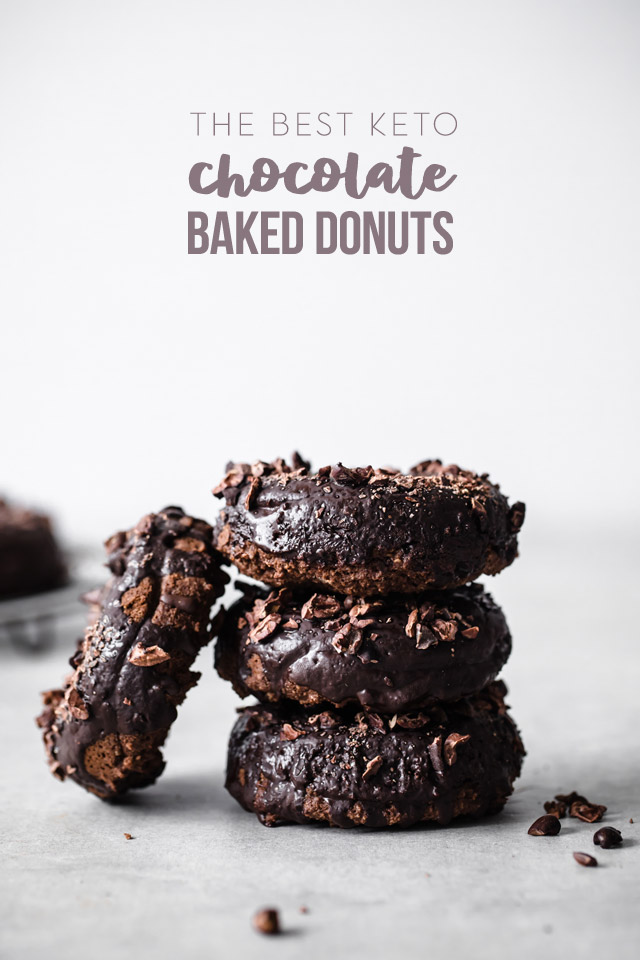The Best Keto Baked Chocolate Donuts