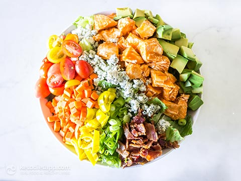 Keto Buffalo Chicken Chopped Salad