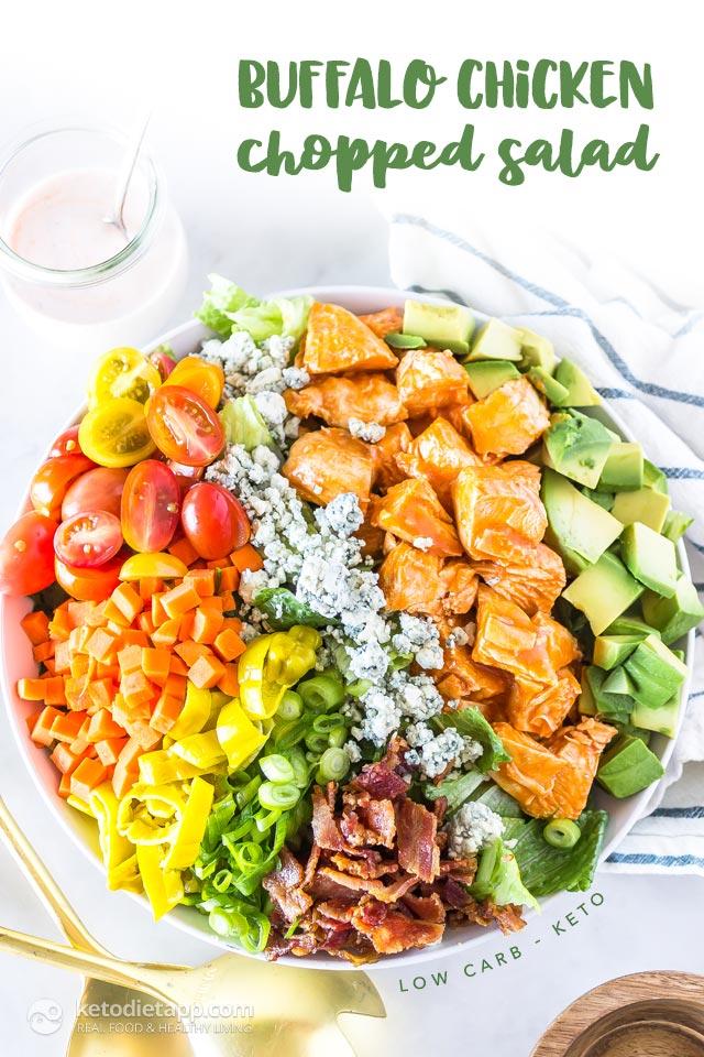 Keto Buffalo Chicken Chopped Salad Ketodiet Blog