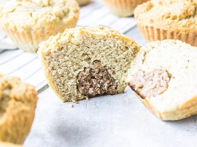 Easy Low-Carb Sausage Stuffed Pancake Muffins