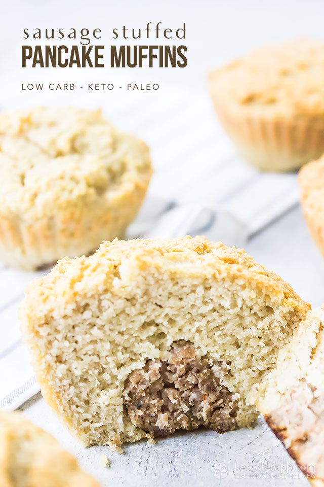 Easy Low-Carb Sausage Stuffed Pancake Muffins
