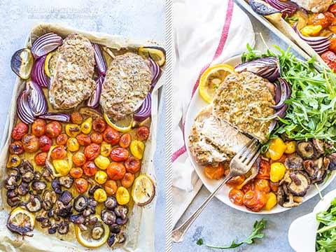 Low-Carb Sheet Pan Mustard Pork Chops