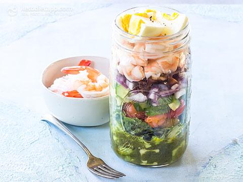 """Vasetti per insalata di carboidrati a basso contenuto di carboidrati """"title ="""" Vasetti per insalata di gamberi a basso contenuto di carboidrati (keto, paleo, senza latticini) """"/> </li> </ol> <p><!--END--></p> <div class="""