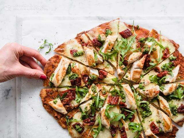 Keto Fat Head Tricolore Pizza