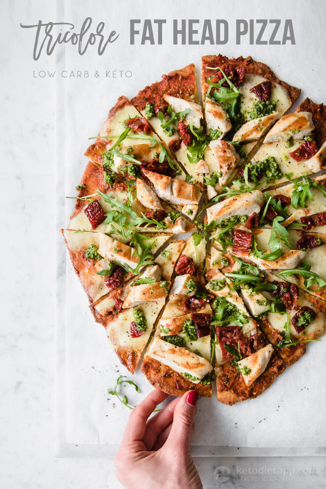 Keto Fat Head Tricolore Pizza