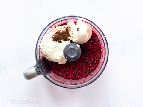 5 Minute Keto Blender Blackberry Ice-Cream