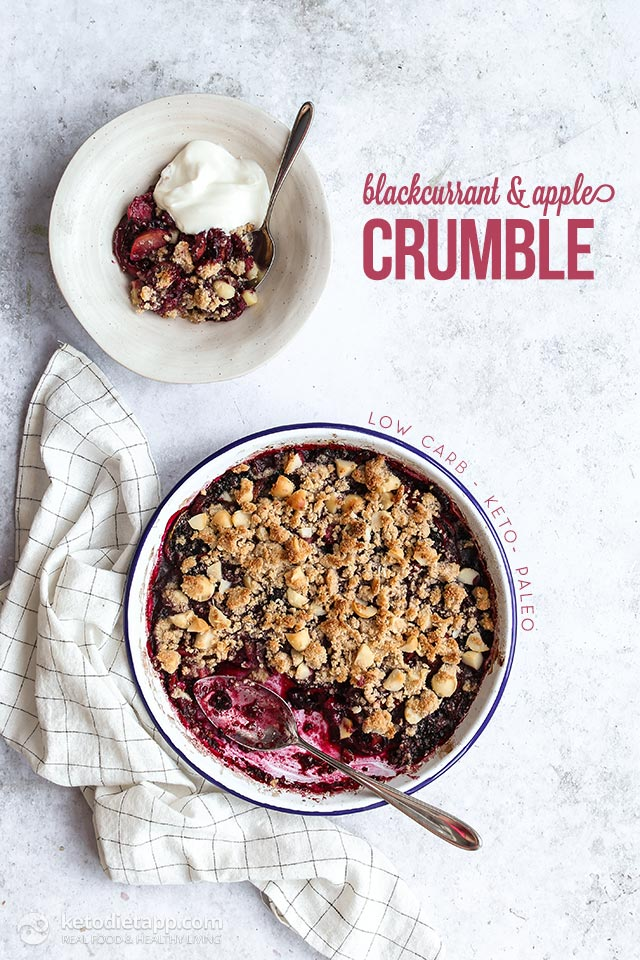 Low-Carb Blackcurrant & Apple Crumble