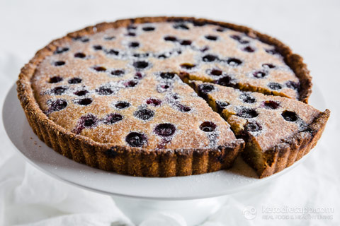 Low-Carb Blueberry Frangipane Tart