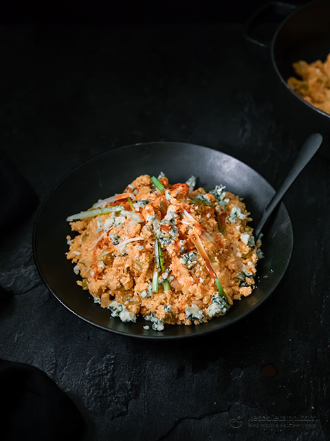 Low-Carb Buffalo Cauliflower Rice