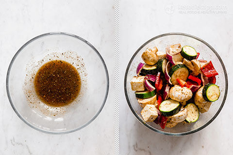 Low-Carb Spiced Halloumi Veggie Skewers