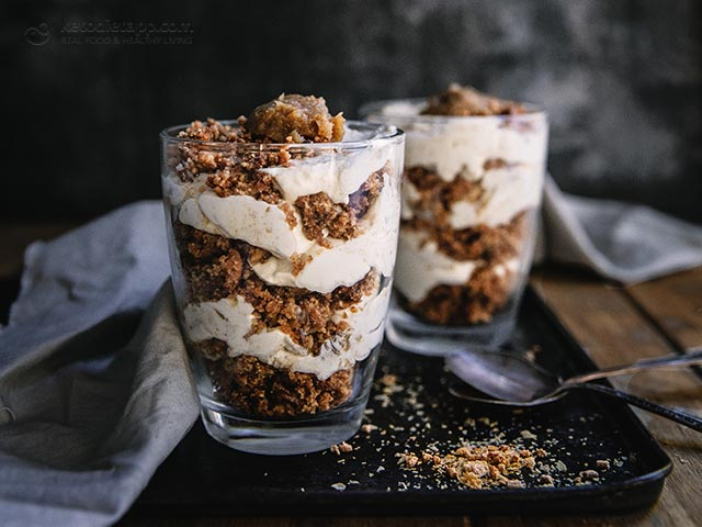 Keto Apple Streusel Cheesecake Jars
