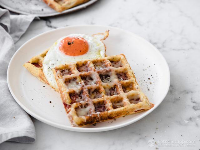 Keto Bacon & Cheese Waffles