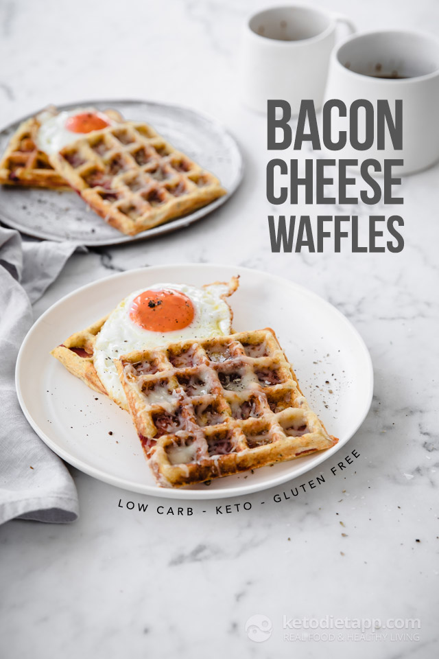 Keto Bacon & Cheese Waffles