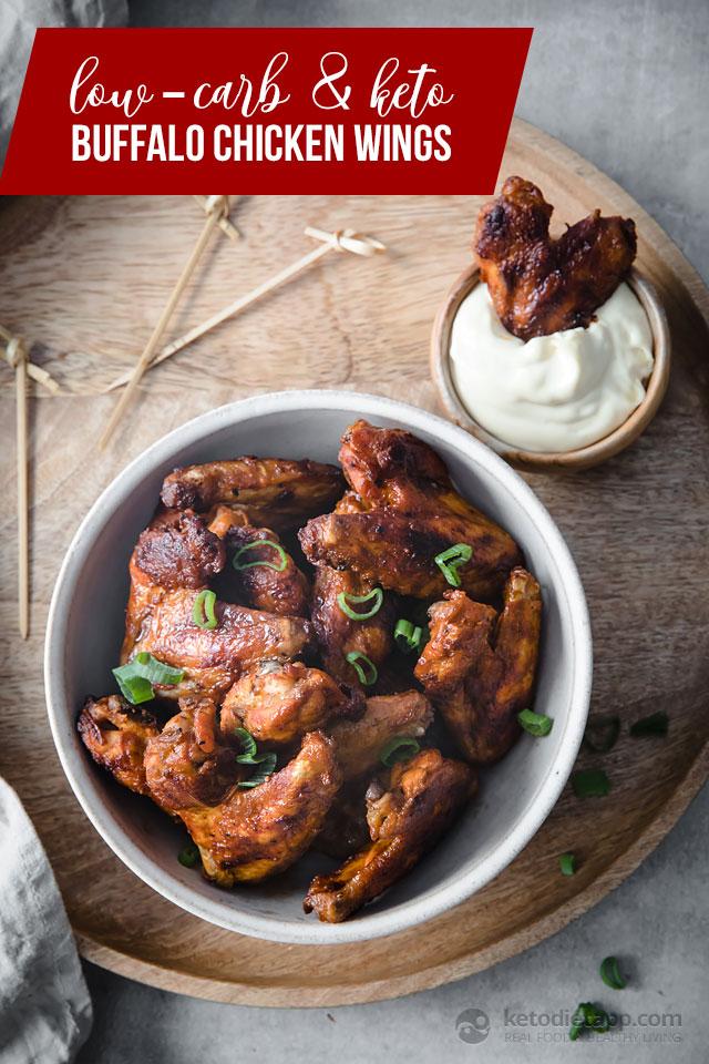 Keto Baked Buffalo Chicken Wings