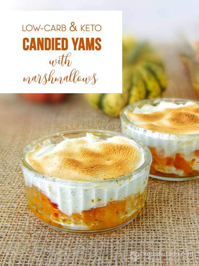 Low-Carb Candied Yams with Marshmallows