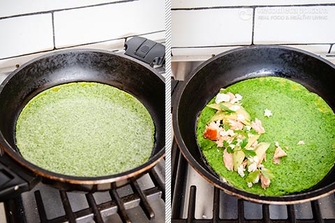 Easy Low-Carb Green Omelet