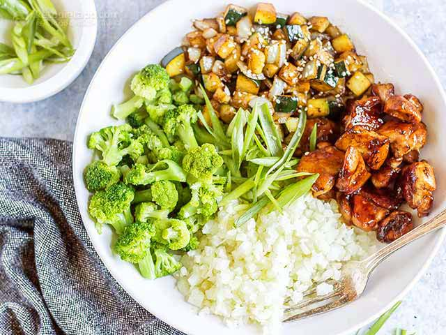 Keto Teriyaki Chicken Bowl