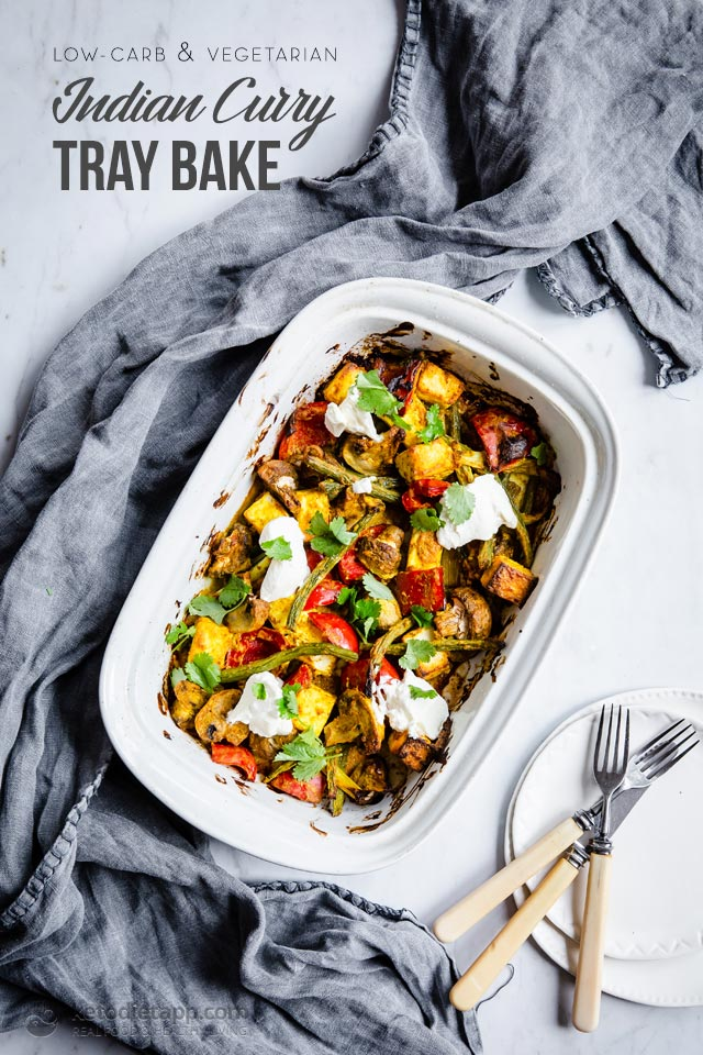 Keto Indian Curry Paneer Tray Bake