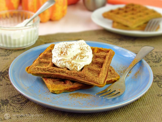 Keto Pumpkin Pie Spiced Waffles