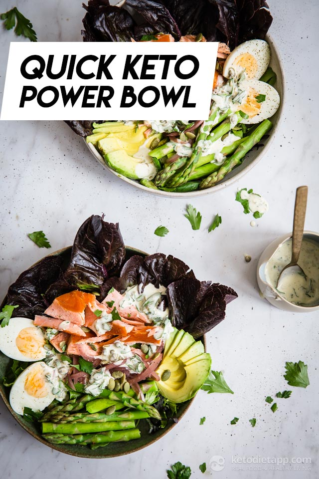 Quick Keto Salmon Power Bowl