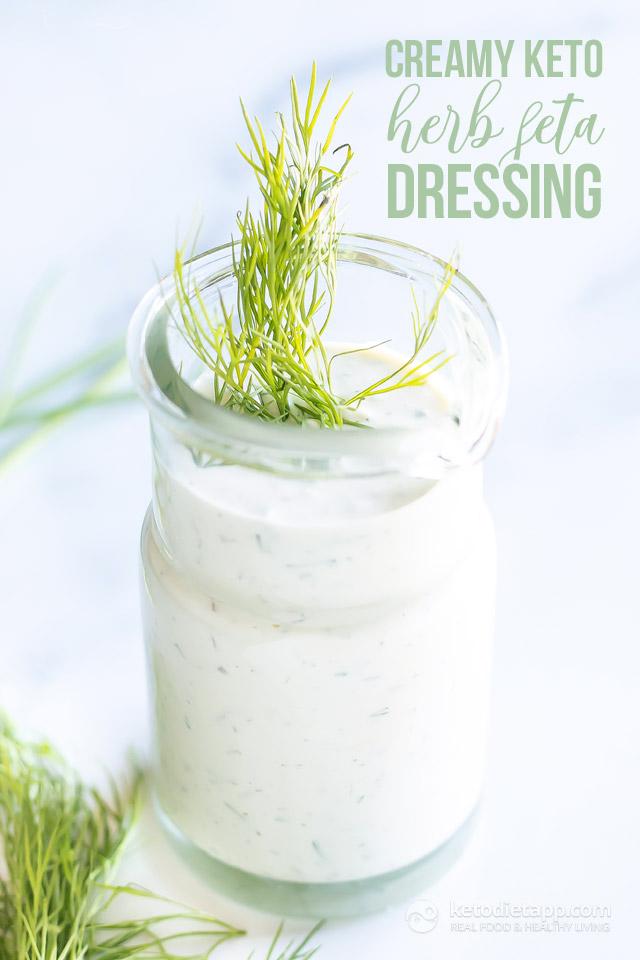 Creamy Keto Herb Feta Dressing