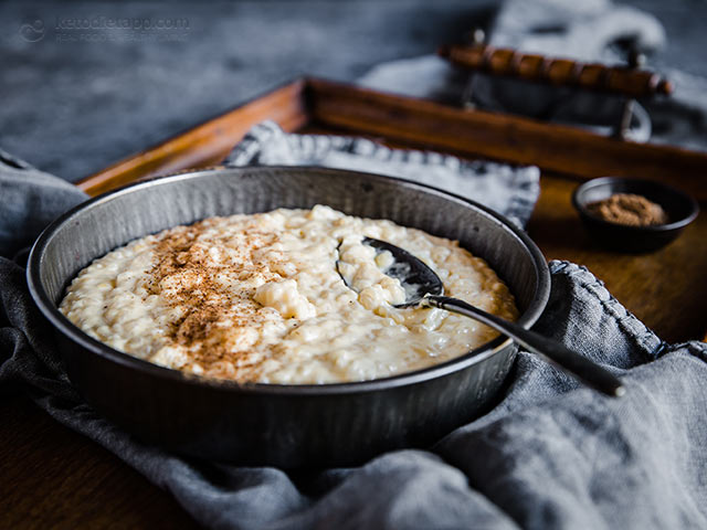 Low-Carb Rice Pudding