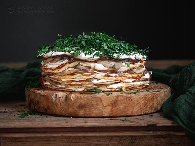 Low-Carb Savory Crepe Cake