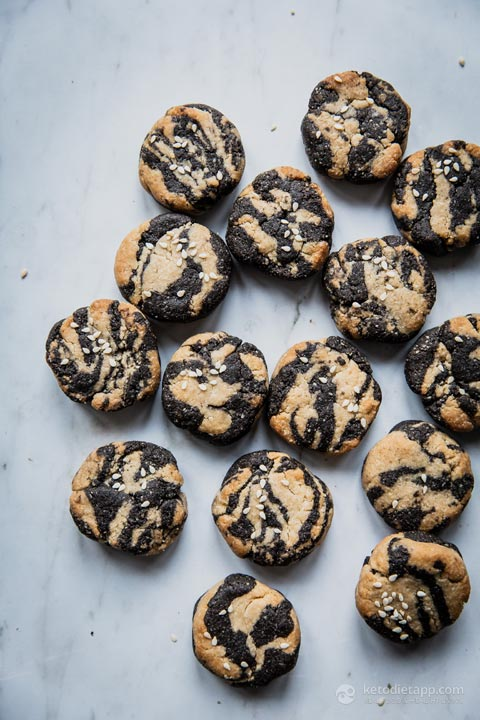 Low-Carb Tahini Swirl Cookies