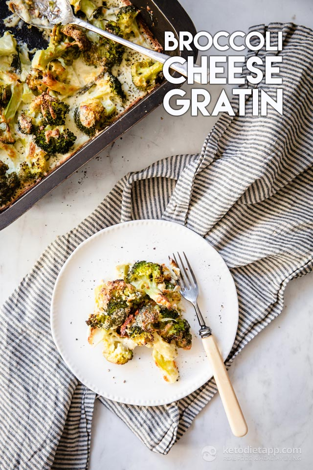 Low-Carb Broccoli Cheese Gratin