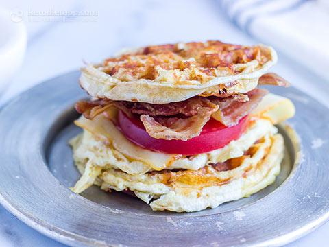 Keto Chaffle Breakfast Sandwich