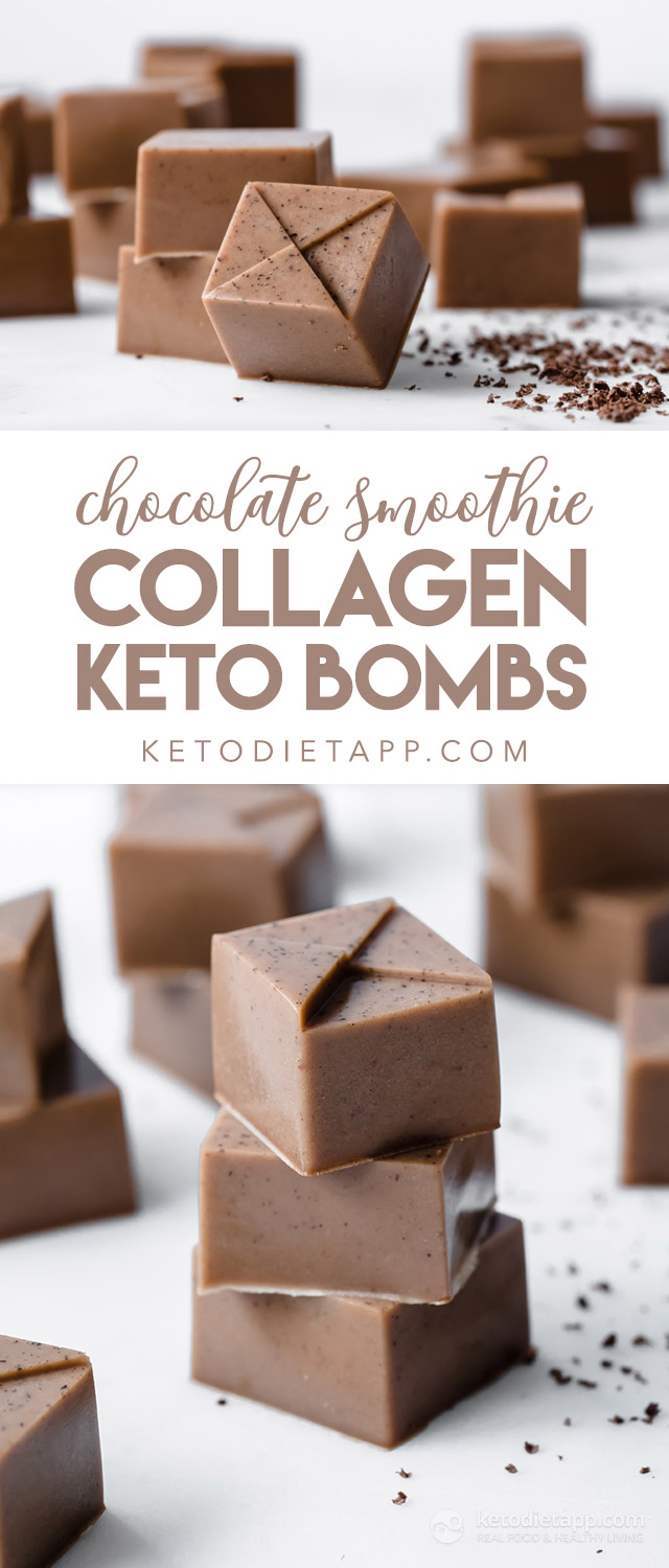 Keto Chocolate Smoothie Collagen Bombs