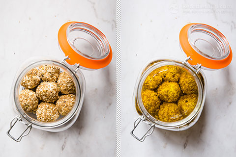 Keto Marinated Cheese Balls
