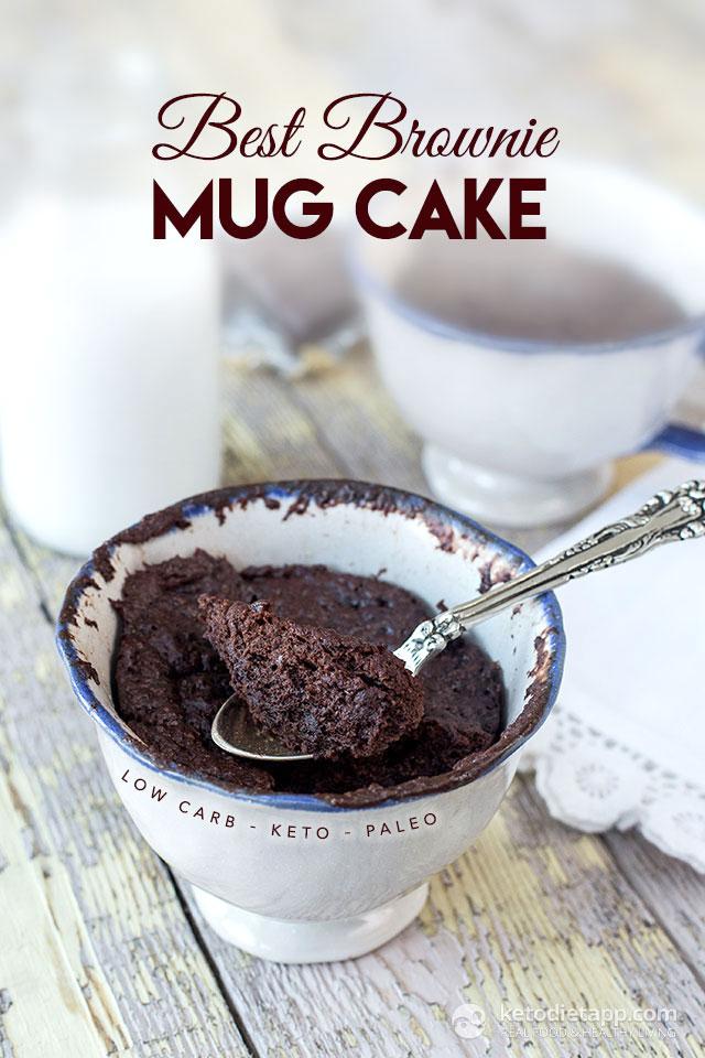 The Best Keto Brownie Mug Cake
