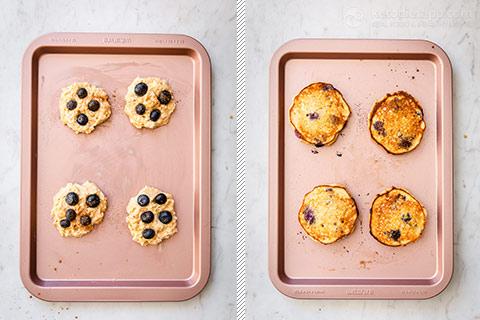 Baked Blueberry Keto Pancakes