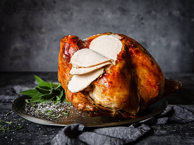 Butter Blanketed Roast Turkey
