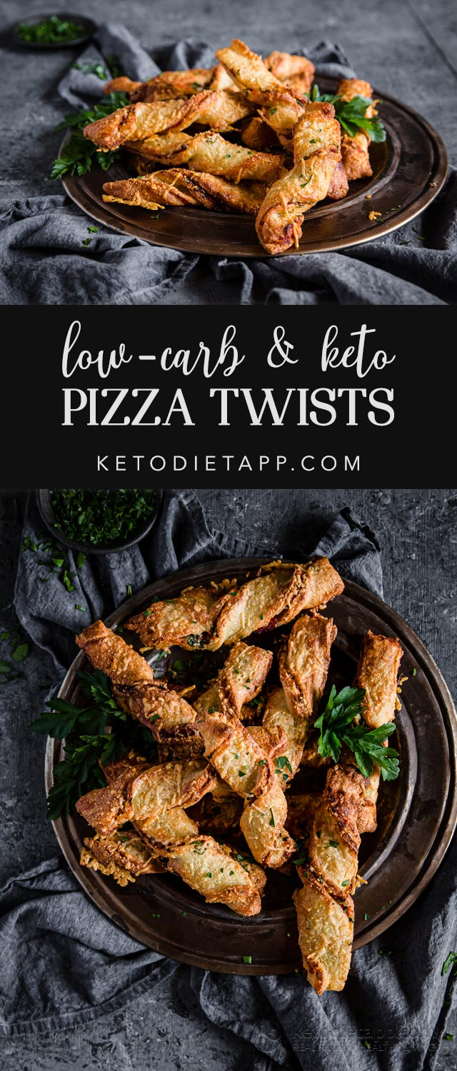 Low-Carb Pizza Twists