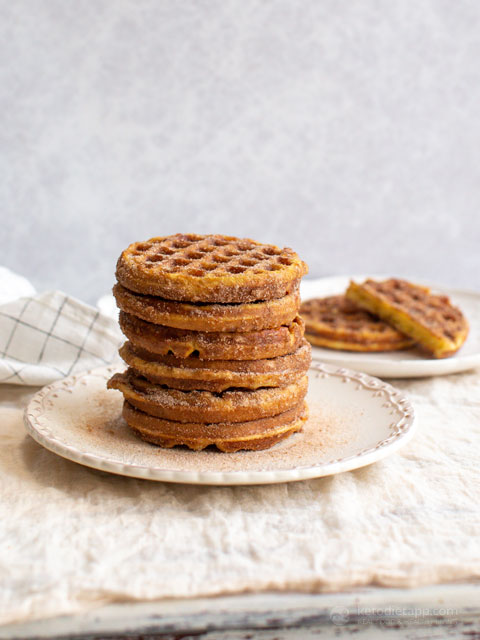 The Best Ever Keto Snickerdoodle Chaffles
