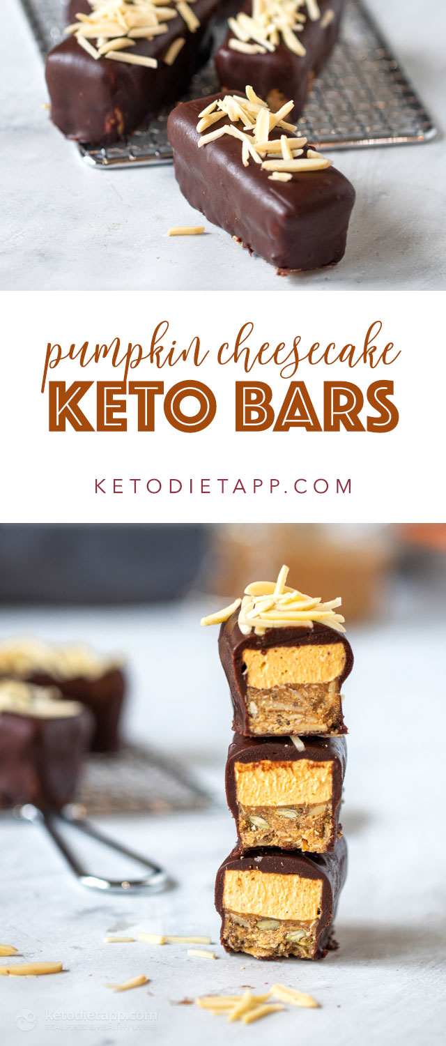 Low-Carb Pumpkin Cheesecake Chocolate Bars