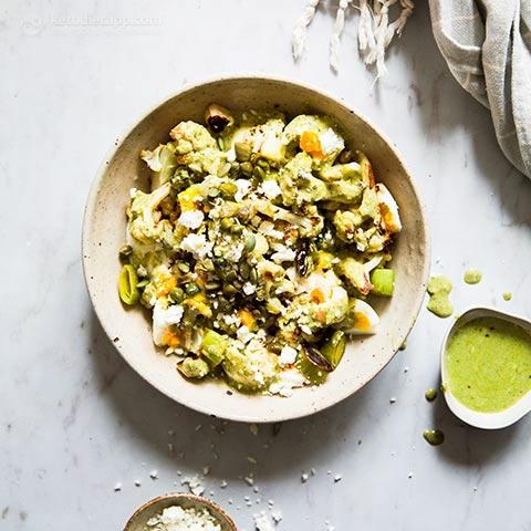 Vegetarian Keto Warm Egg Salad