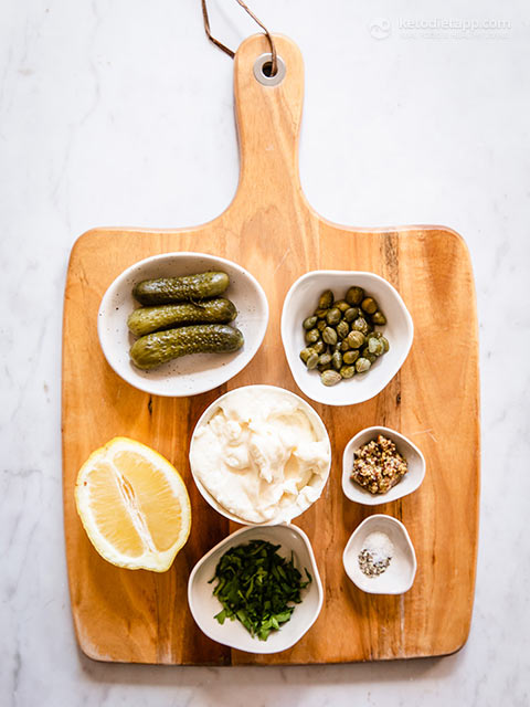 Easy Tartar Sauce with Pickles and Capers