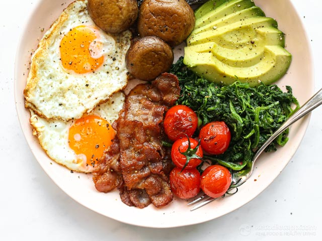 Easy Full English Keto Breakfast