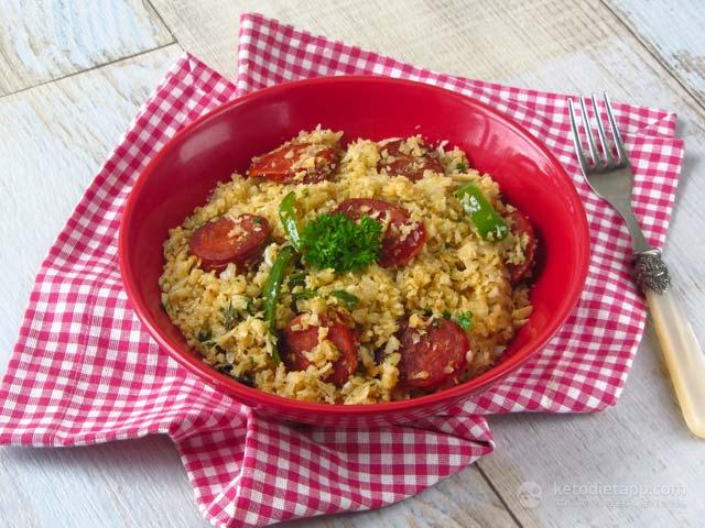 Keto Mexican Rice with Chorizo