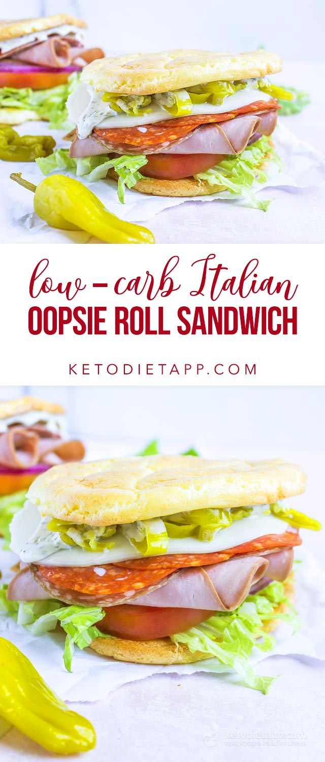 Low-Carb Oopsie Roll Italian Sandwich