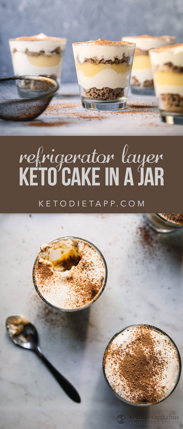 Keto Refrigerator Layer Cake in a Jar